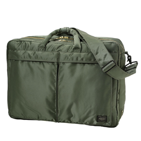 Porter Yoshida Tanker 3Way Briefcase - SAGE GREEN