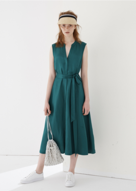 CAARA Florence Dress - Dark Green