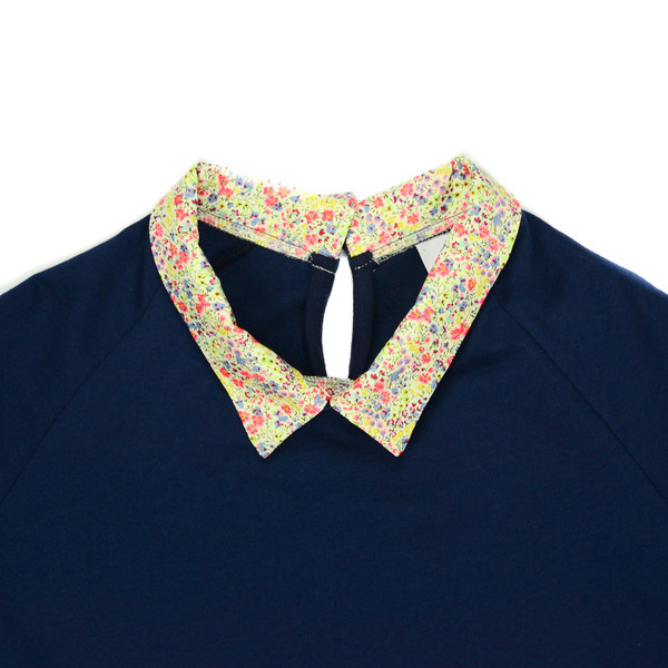 LOUP - CHARLOTTE TEE - NAVY/FLORAL
