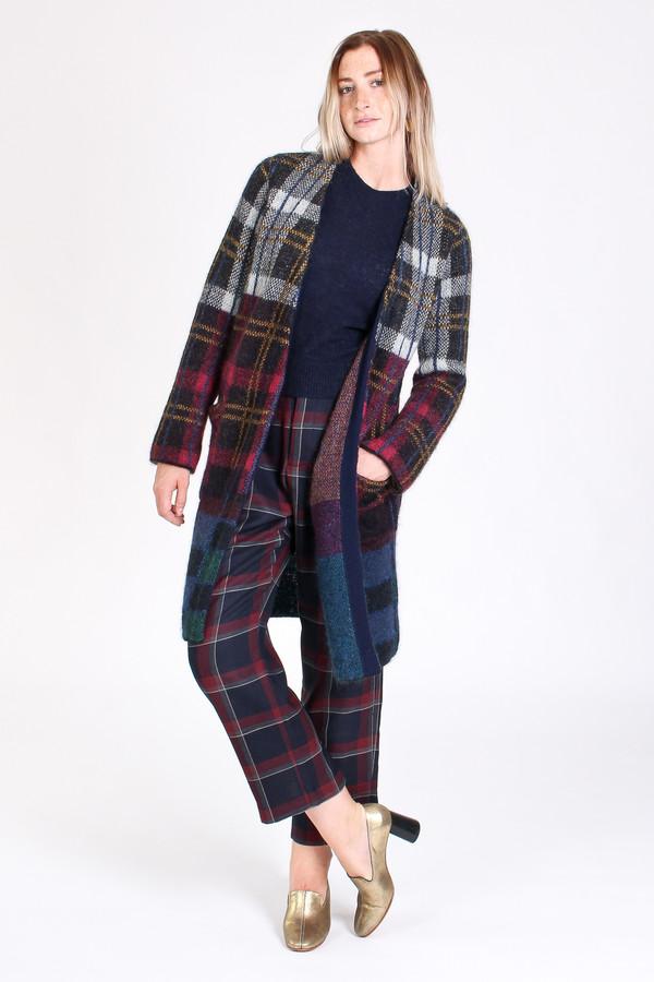 Suno Cardigan coat in plaid