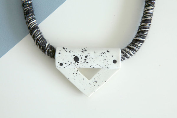 YYY speckled triangle necklace