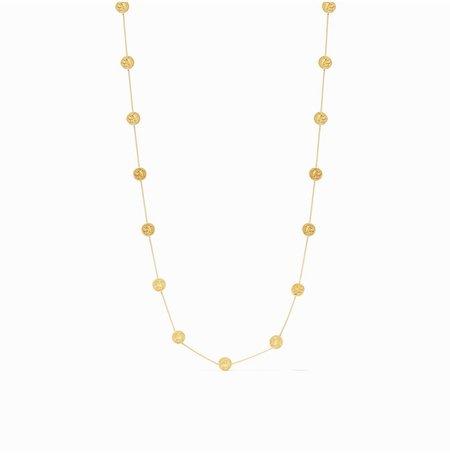 Julie Vos Coin Delicate Station Necklace - 24K gold plate