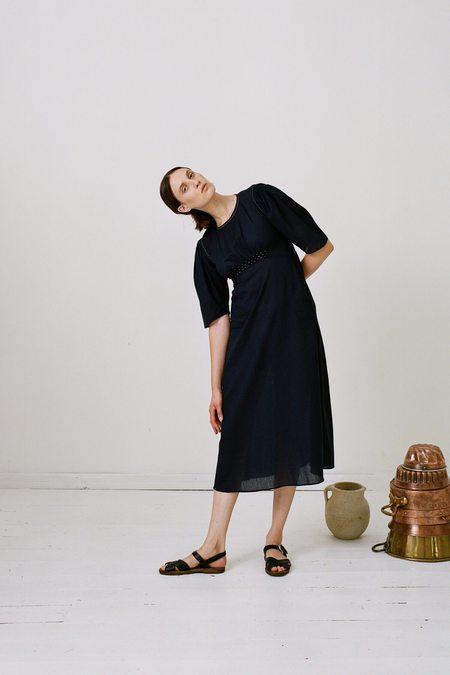 Karu Dairy Dress - Midnight Blue Cotton
