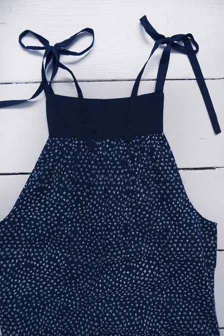 Karu Scrub Print Jumpsuit - Midnight Blue