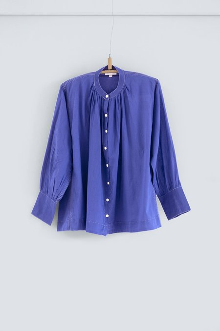 Karu The Potter's Blouse - Ceramic Blue