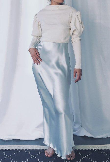 Petit Mioche silk slip dress - new moon