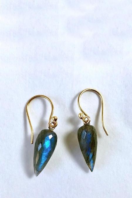 Percent Jewelry Faceted Teardrop Earring - Labradorite