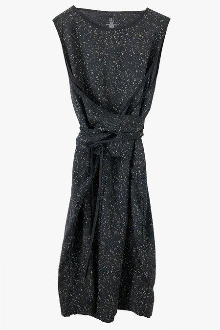 Uzi NYC Oxford Dress - Splatter/Black