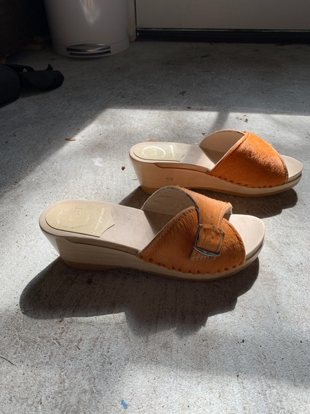 No.6 Abuela Clog on Mid Wedge - Clementine Pony