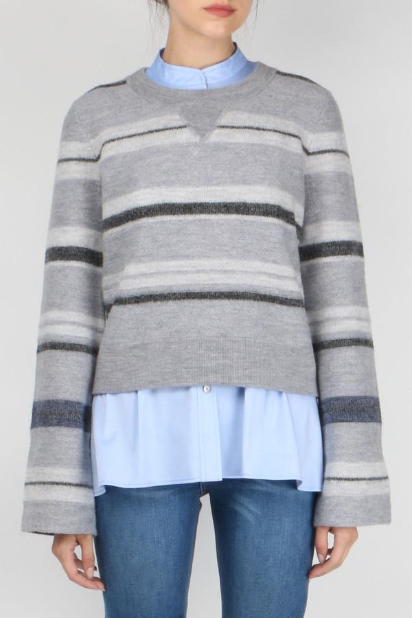 Derek Lam 10 Crosby L/S Crewneck Stripe Sweater