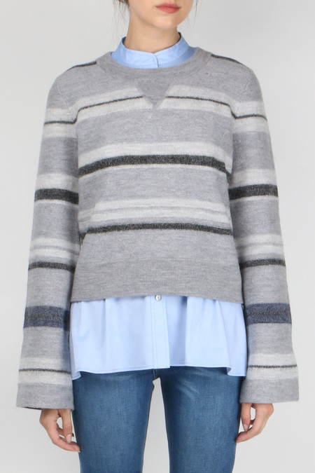 Derek Lam 10 Crosby L/S Crewneck Stripe Sweater