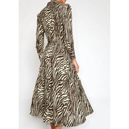 No.6 Roman Dress - Coffee/Cream Zebra