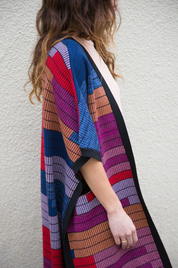 mara hoffman knit poncho