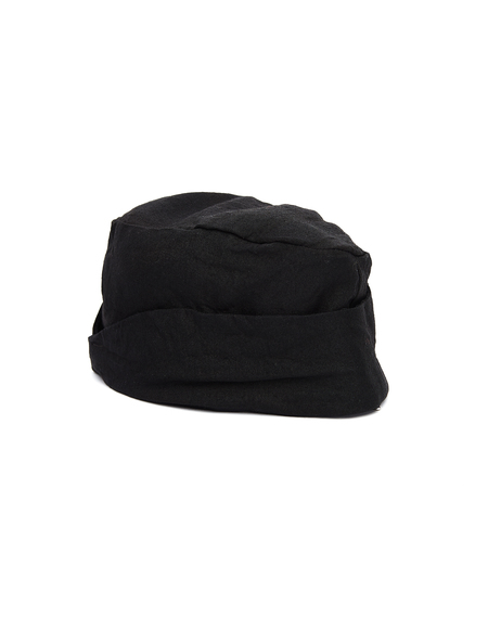 The Viridi-Anne Linen Beret - Black