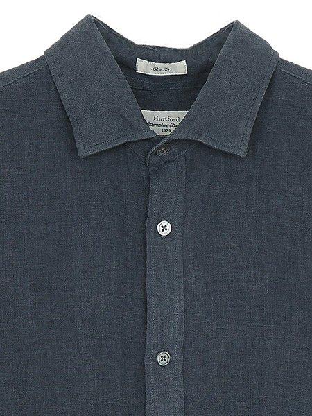 Hartford Sammy Linen Shirt - Graphite
