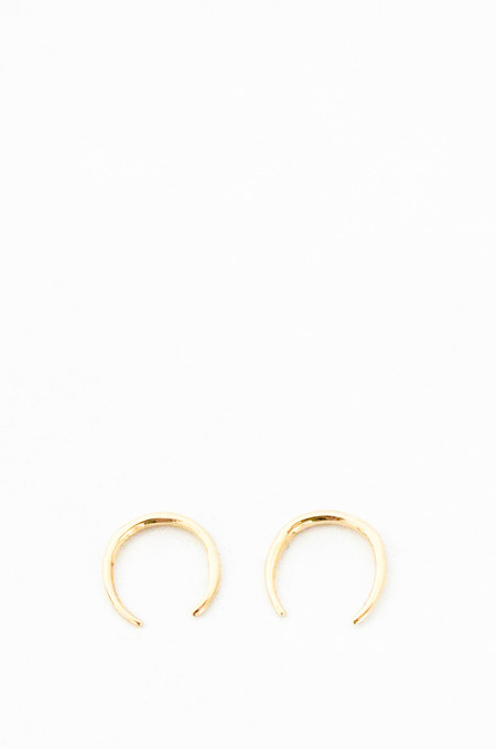 Gabriela Artigas 14K Gold Mini Rising Tusk Earring Set
