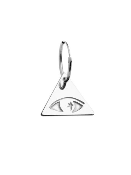 VIBE HARSLOF x facetasm Illuminati Eye Earring - Sterling Silver