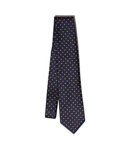 Freemans Sporting Club Freemans Necktie - Navy Blocks