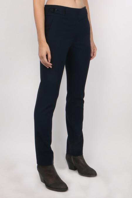 Tibi Anson Stretch Skinny Pant - Navy Blue