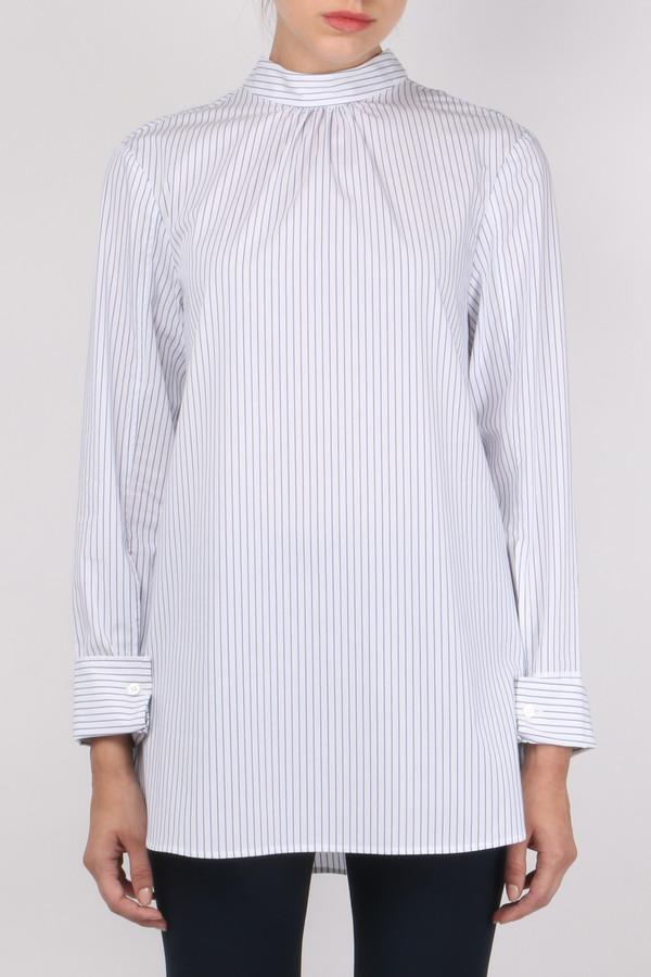 Tibi Samuel Stripe Backward Boyfriend Shirt