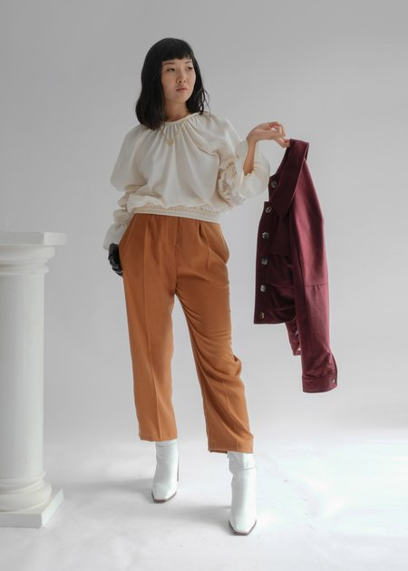 OhSevenDays The Thursday Crease High Waisted Tapered Trousers