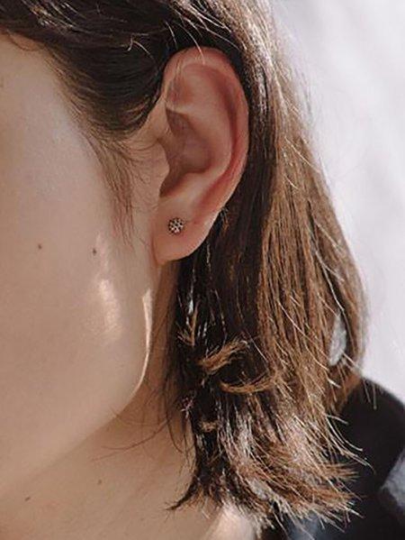Blanca Monrós Gómez dot earrings - 14k yellow gold