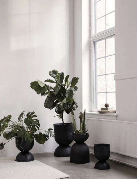 Ferm Living Medium Hourglass Plant Pot - Black