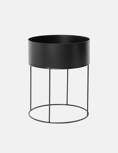 Ferm Living Round Plant Box - Black