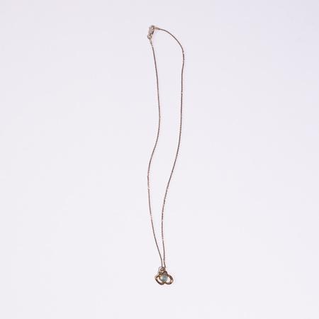 Open House Flora Necklace Aqua Brz - Sterling Silver