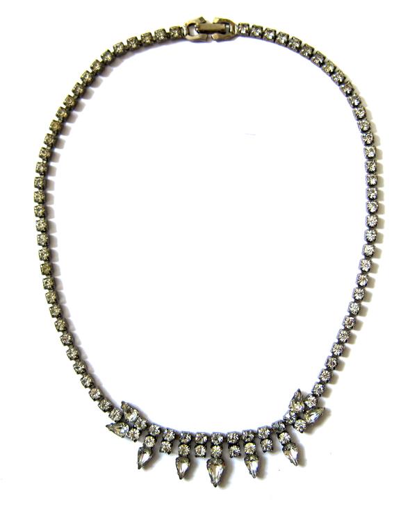 Sherman rhinestone necklace