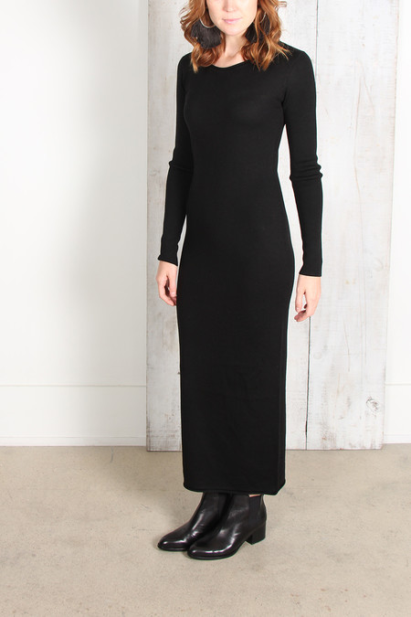 Alexander Wang Merino Roll Neck Sweater Dress - Black