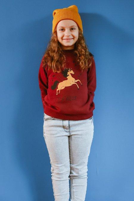 Kids ARTEMIS & APOLLON Pegasus Sweatshirt - Bordeaux