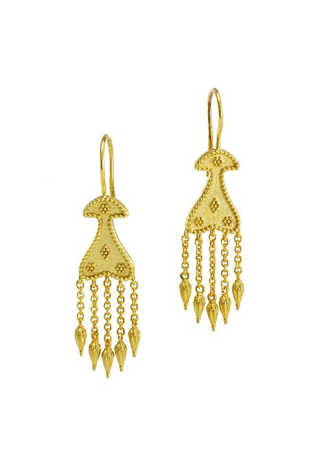R by RANIA XEFTERI THE MYSTERY OF TROY HELEN EARRINGS - 18K Gold Plated