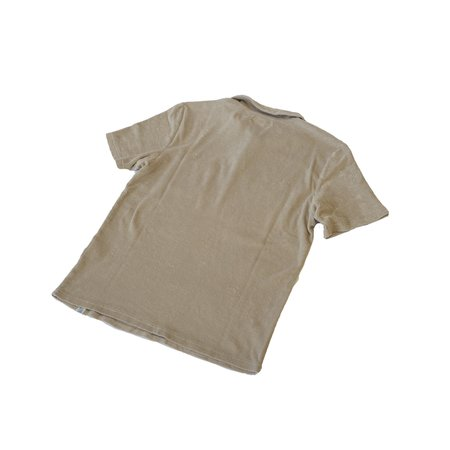 Merz b. Schwanen FTPLP01 French Terry Polo Shirt With Pocket - Feather Grey