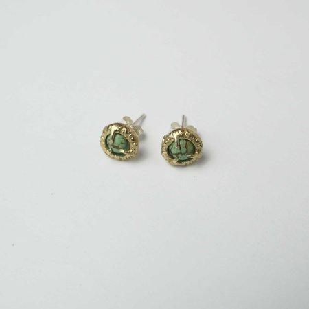 Monica Squitieri Jade Cove Earrings - Brass