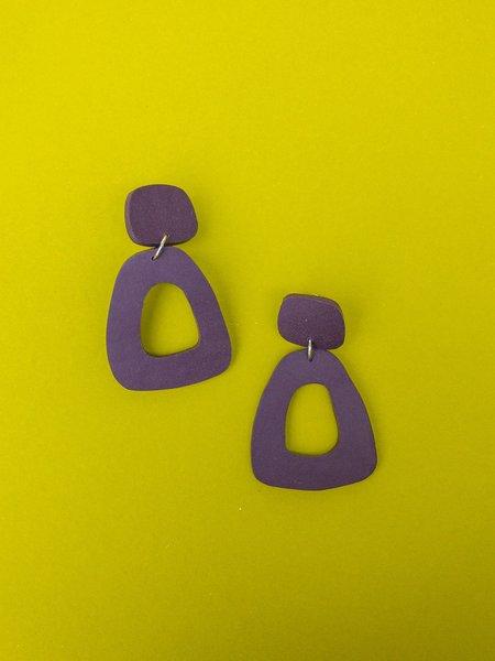 amy george earring - eggplant