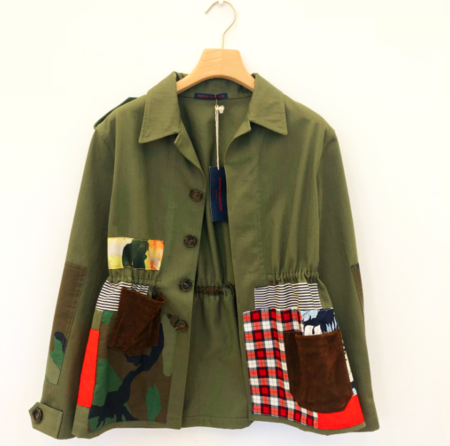 Harvey Faircloth Army Patchwork Jacket - Olive