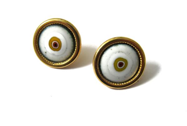 enamel eye earrings