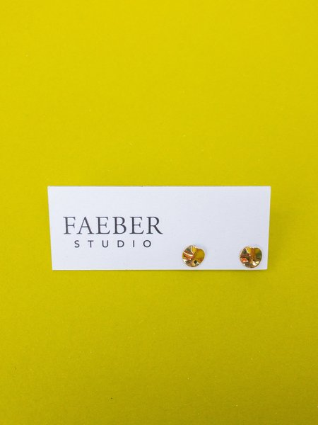 Faeber Studio acies studs - Brass