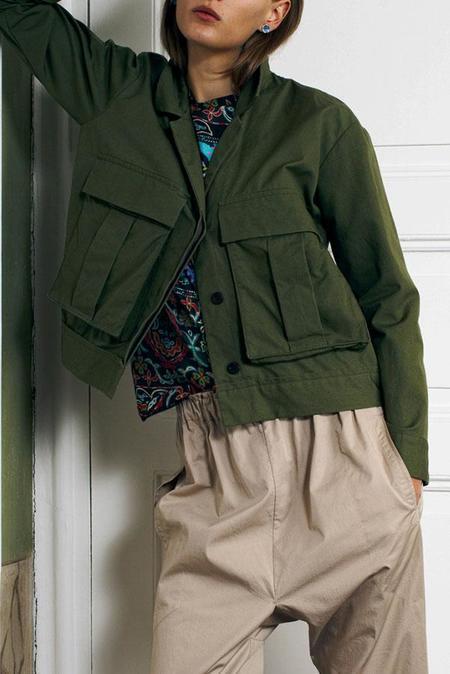Sibel Saral Jacket with Cargo Pockets - Military