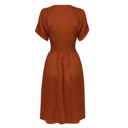 All That Remains Audrey Dress - Ochre