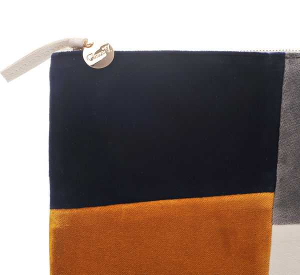 Velvet Patchwork Clutch by Clare V.