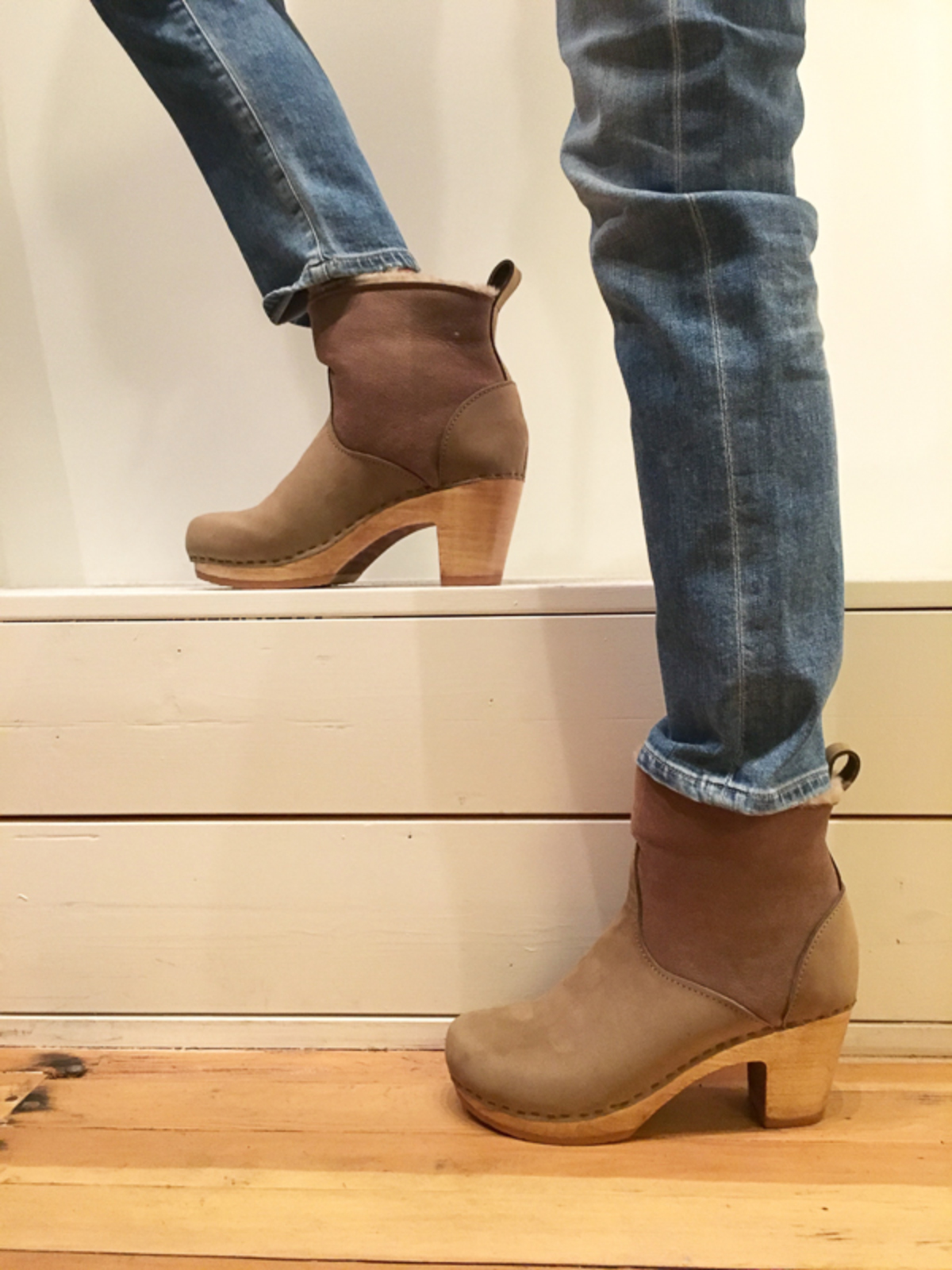 "fake online 2014 unisex for sale No.6 5"" Shearling Clog boots cheap big sale clearance browse outlet best prices YEKDa2l"