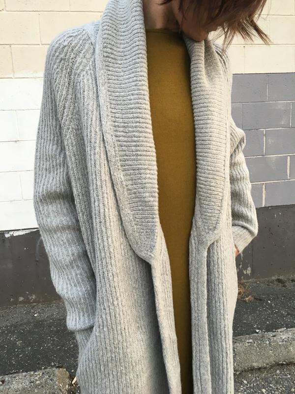 Line sweater coat