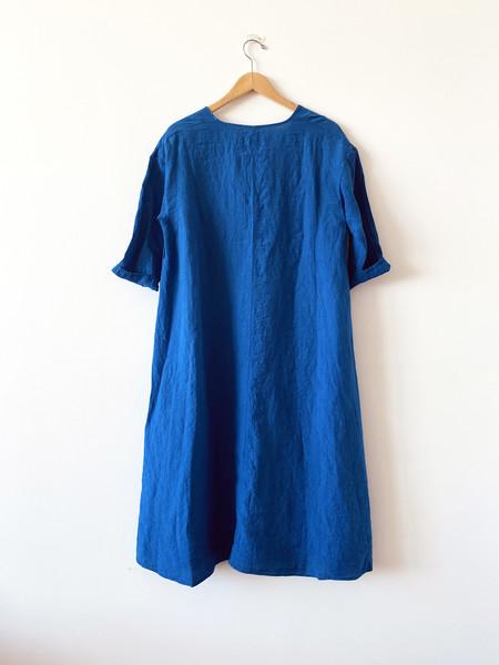 Manuelle Guibal Linen Dress - Electric