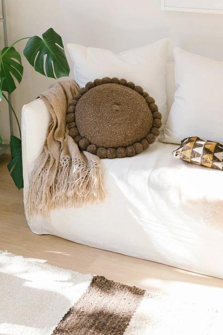 Pampa Monte Pom Pom Cushion #32 - walnut