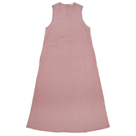 ALI GOLDEN CREW NECK DRESS - DUSTY ROSE