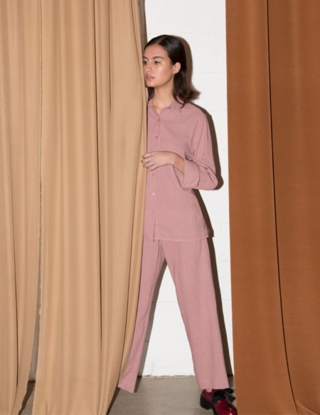 ALI GOLDEN HIGH WAIST PANT - DUSTY ROSE