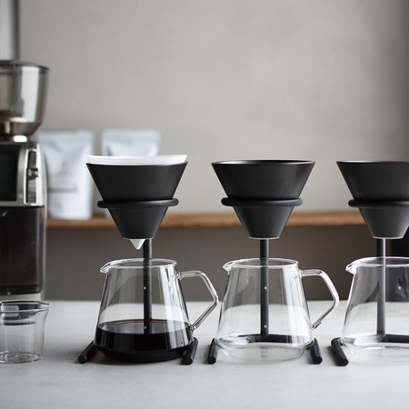 Kinto Japan Kinto Black Brewer Stand Set 4 Cups