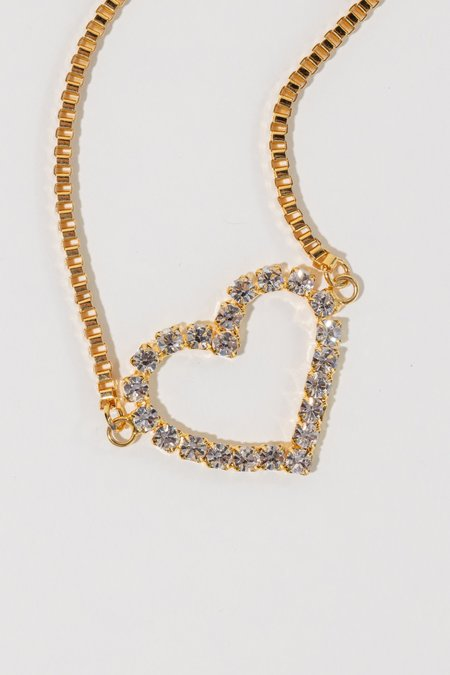 LARUICCI Crystal Heart Necklace